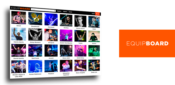 EquipBoard: Descubre el equipo de tus djs, productores y músicos favoritos