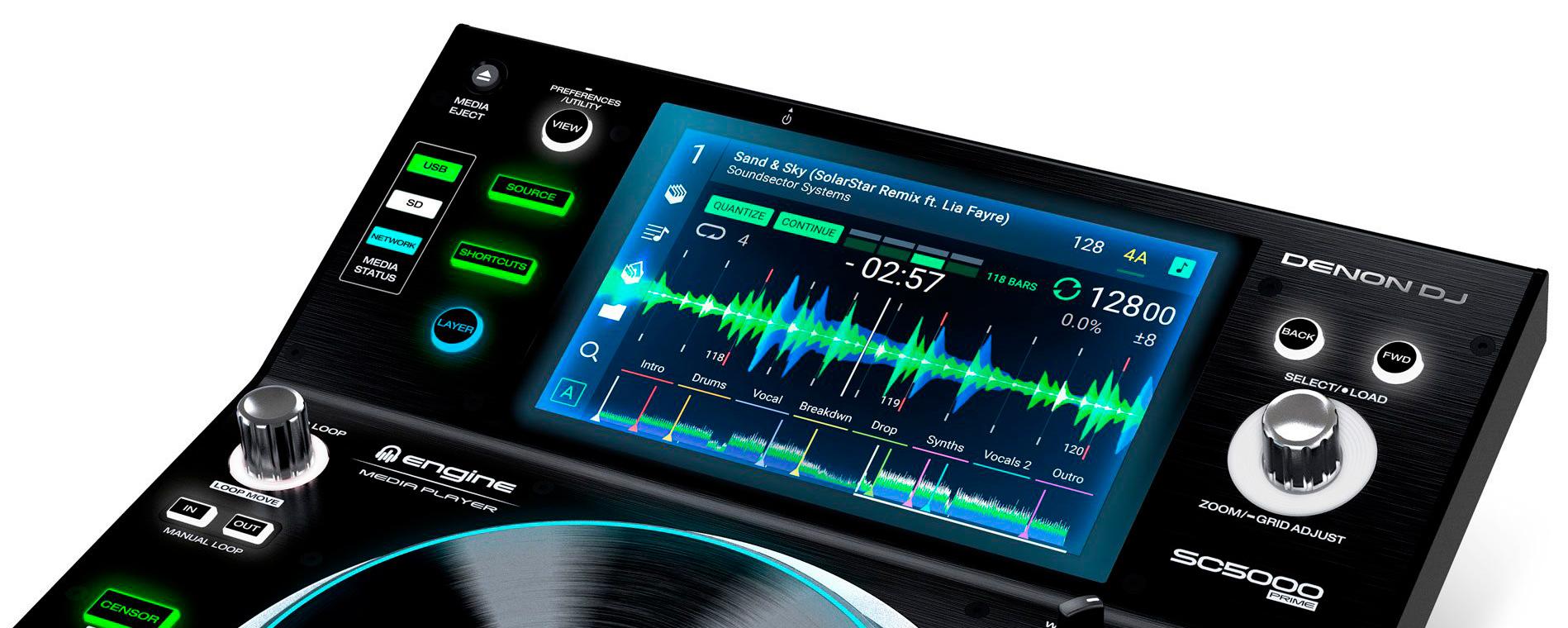 Denon DJ SC5000 pantalla