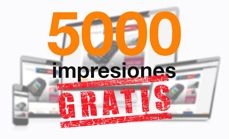 5000 Impresiones Gratis