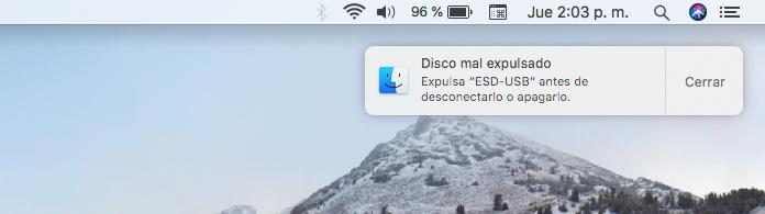 Expulsar USB Mac