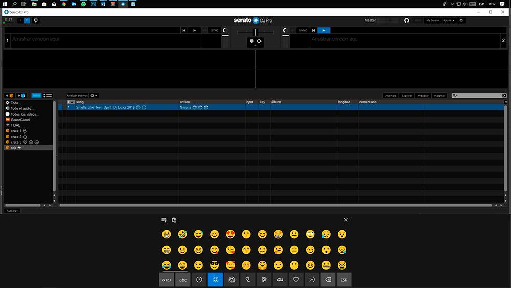 Serato DJ emojis en Windows