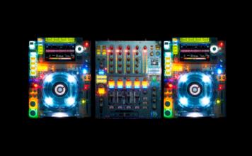 Cabina Pioneer DJ transparente