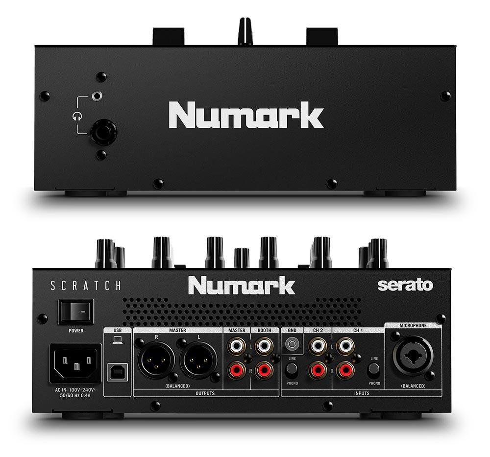Numark Scratch - Parte frontal y posterior