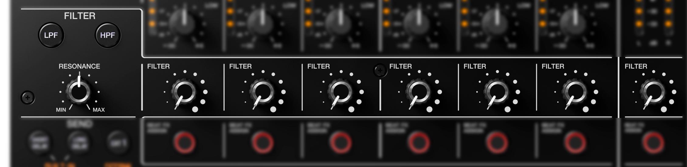 Pioneer DJ DJM-V10 - Filtro