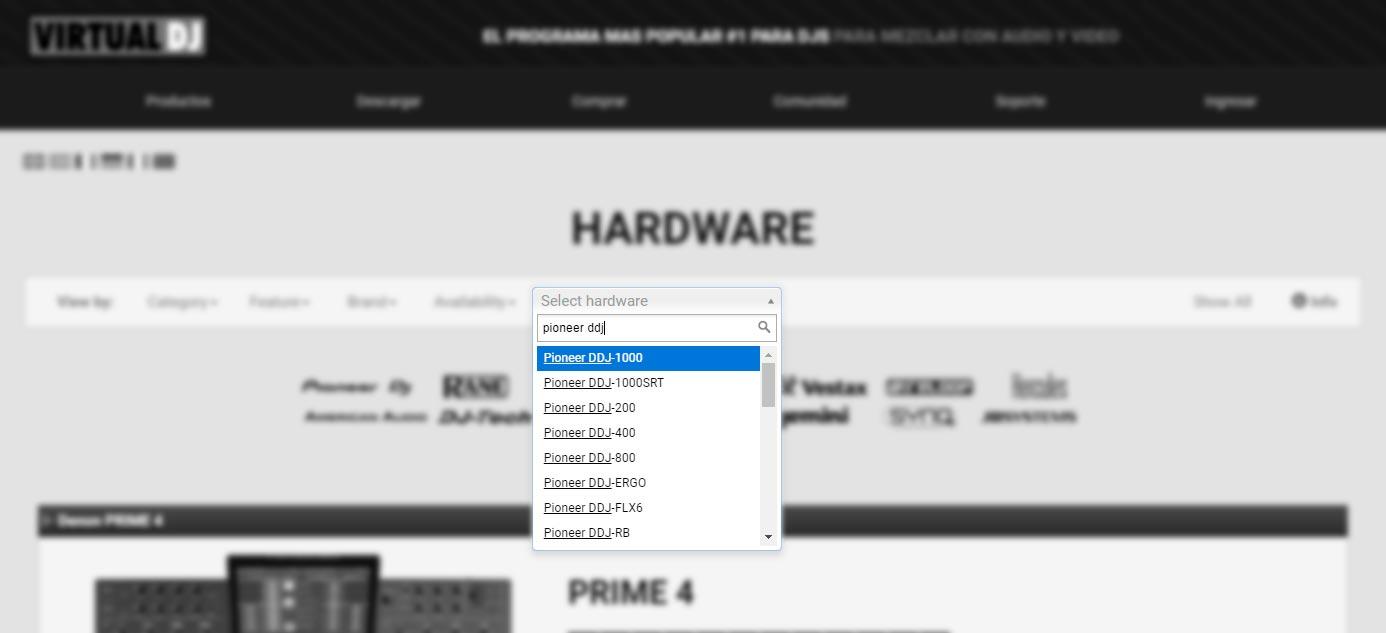 Virtual DJ controladores compatibles