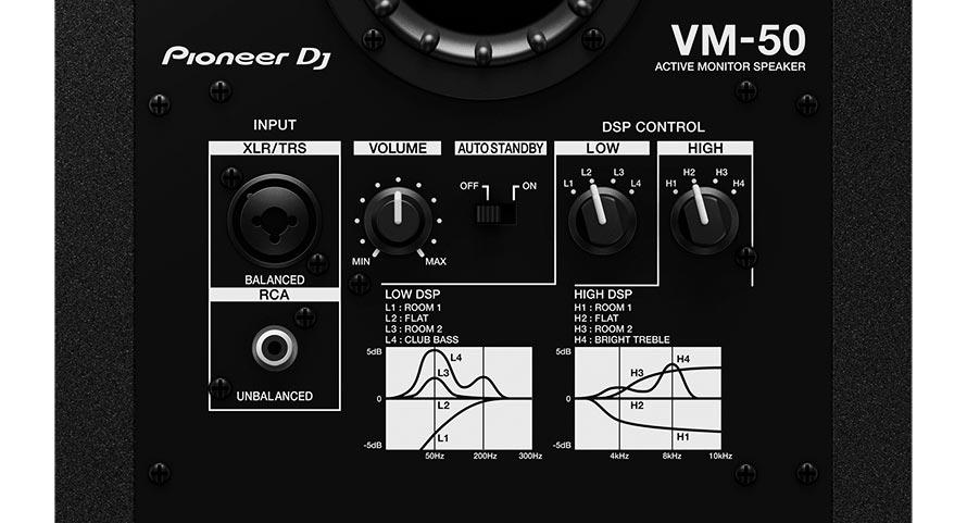 Pioneer DJ monitores VM. Amplificación y DSP.
